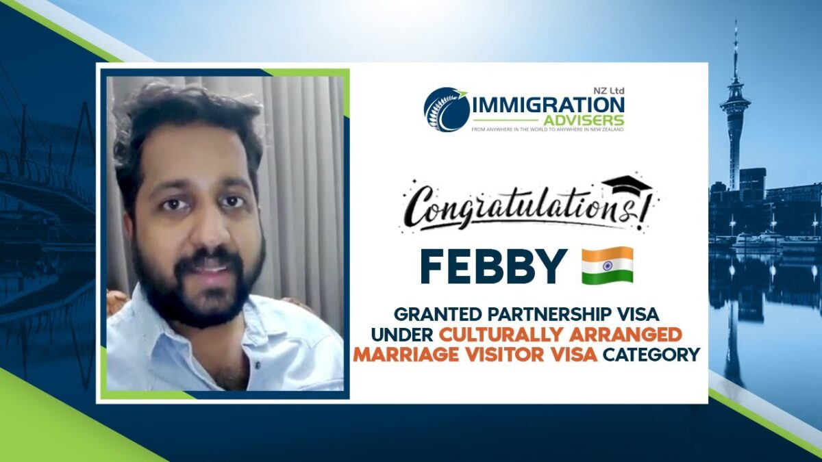 Granted Culturally Arranged Marriage Visitor Visa